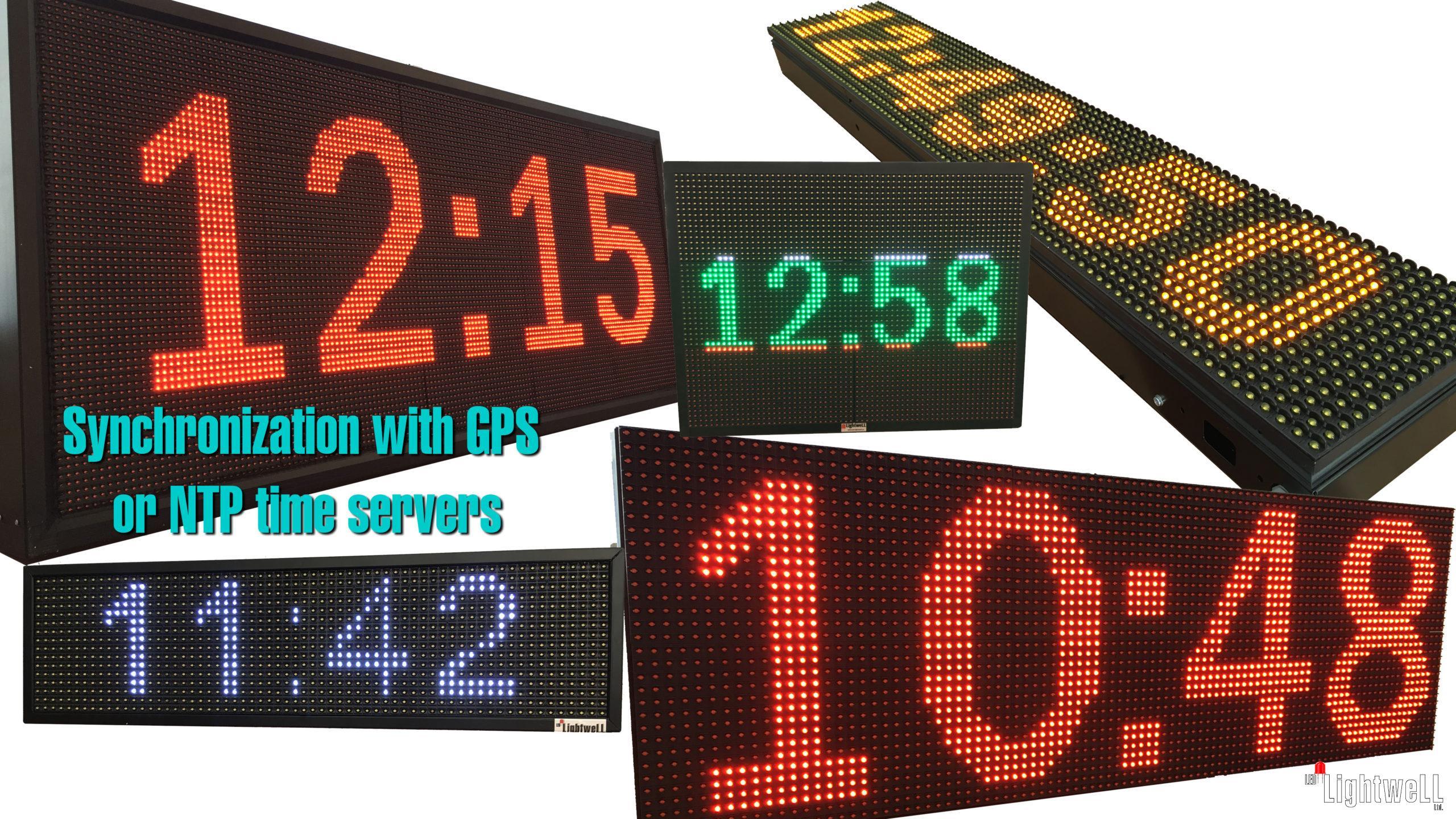 Светеща LED Табела – ОТВОРЕНО / ЗАТВОРЕНО с GPS часовник, прогноза за времето, новини и течащ текст