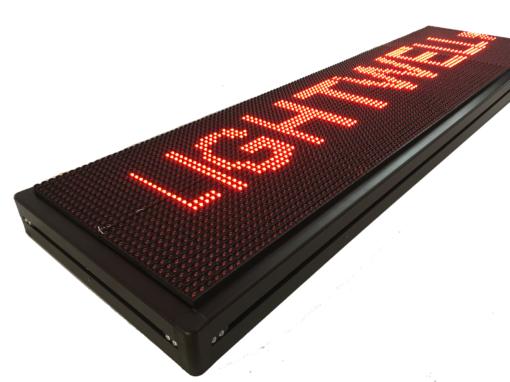 Лед табела 128x32, червена P10R12832