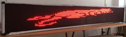 Лед табела 256x32, червена P10R25632