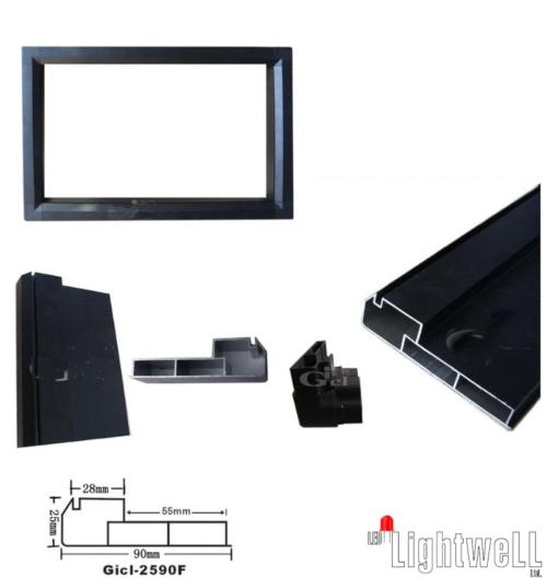 Алуминиев профил за рекламни табла 2590