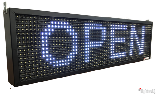 Светеща LED Табела – ОТВОРЕНО / ЗАТВОРЕНО с часовник, прогноза за времето, новини и течащ текст