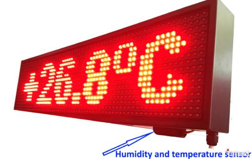 Лед табло с GPS часовник, датчик за температура и влажност