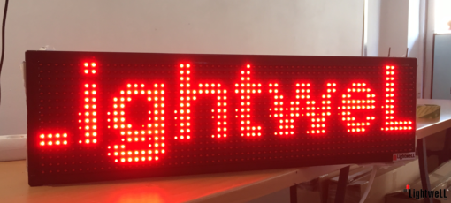 Лед табела 64x16, червена P10R6416