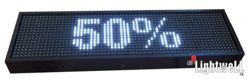 LED screen with GPS clock, temperature and humidity sensor