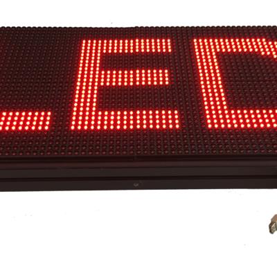 Лед табела 64x32, червена P10R6432