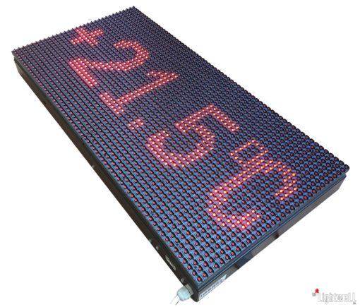 Светеща LED Табела – ОТВОРЕНО / ЗАТВОРЕНО с GPS часовник, прогноза за времето, новини и течащ текст.