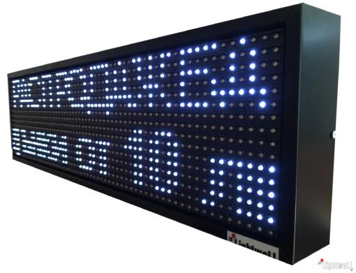 Лед табела 64x16, P10V6416 4 в 1 отворено, затворено с вграден часовник и надписи