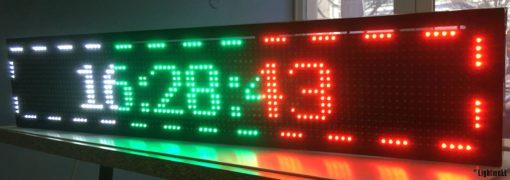 Лед табела 96x16, бяла, зелена, червена P10WGR9616