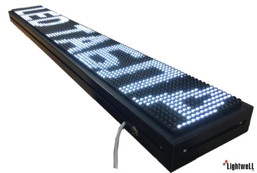 Лед табела 96x16, бяла P10W9616