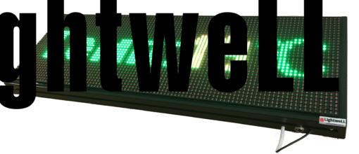 Лед табела 96x32, червен, зелен, жълт P10R1G19632
