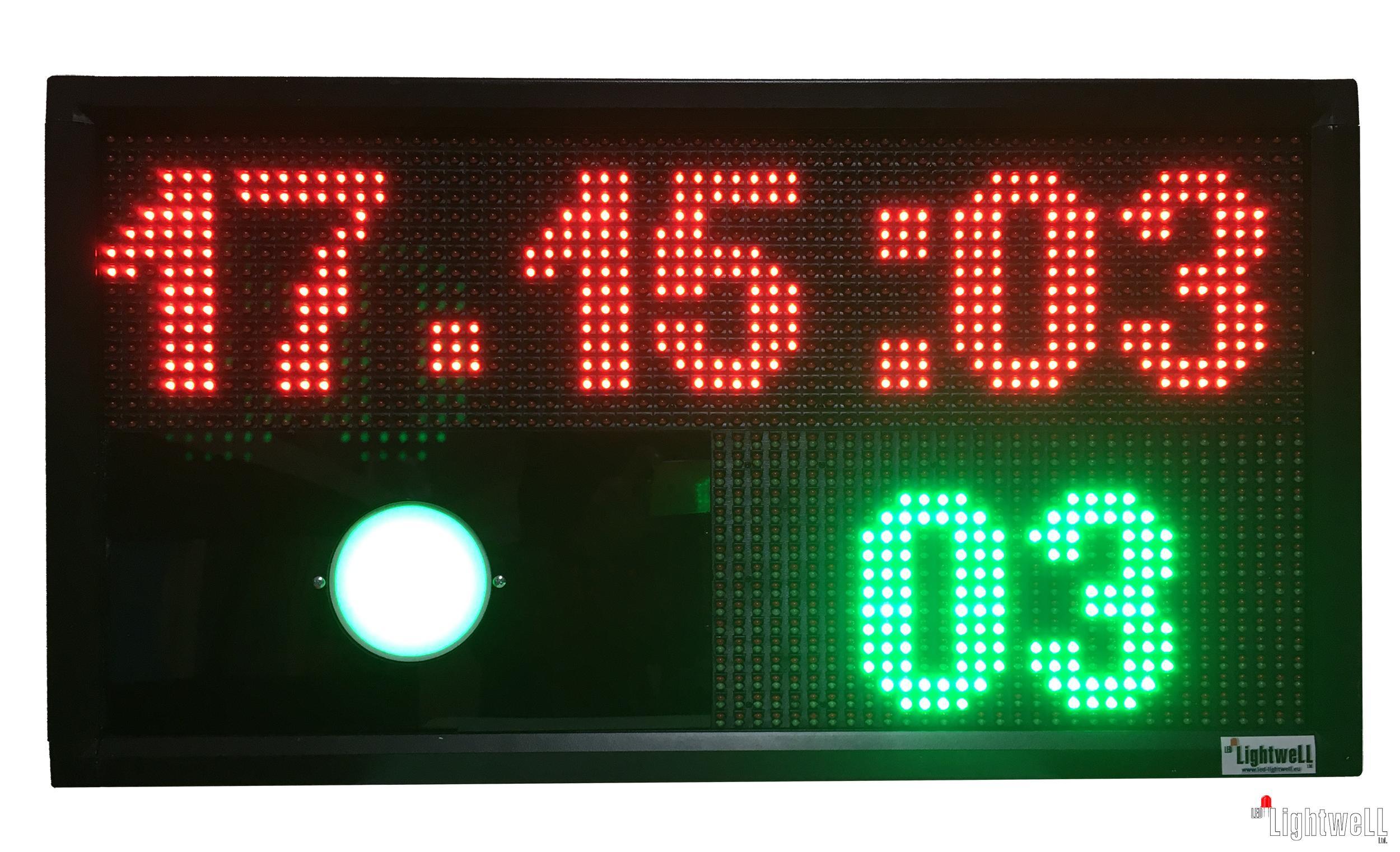 LED дисплей за визуализация на резултати от спортни състезания