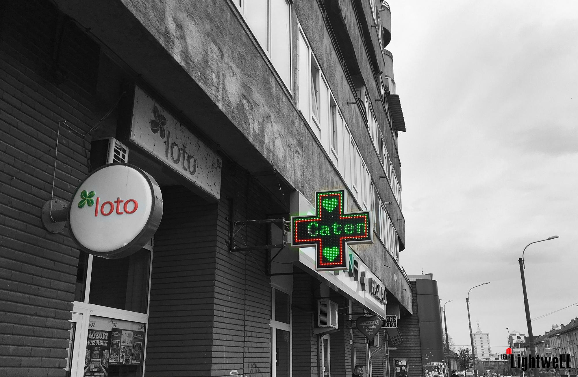 ЛЕД табела в Румъния