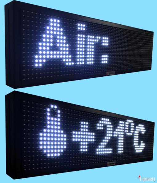 Лед дисплей-информер с температура на морската вода и въздух iP10V6416